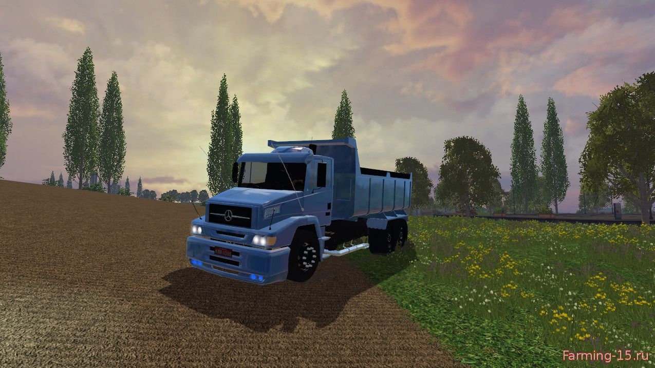 Грузовики для Мод грузовик MERCEDES-BENZ L-1620 BUCKET для Farming Simulator 2015