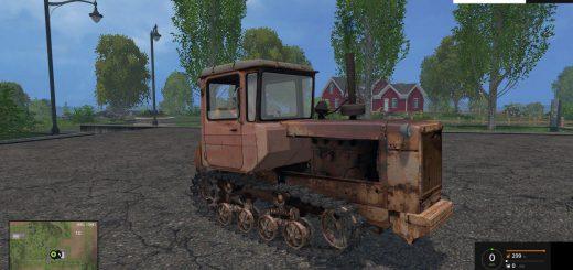 Русская техника для Мод гусеничный трактор ДТ-75 New Version для Farming Simulator 2015