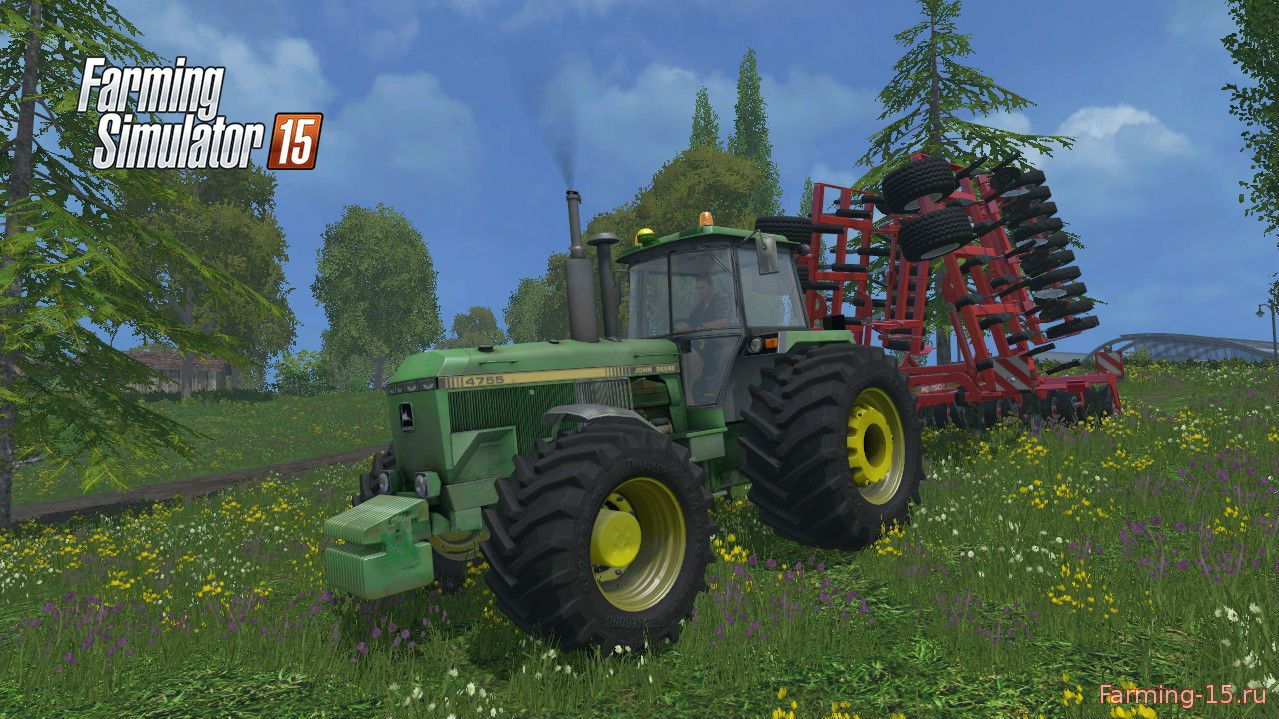 Тракторы для Мод трактор John Deere 4755 Terra v2.0 для Farming Simulator 2015
