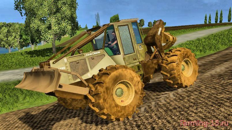 Погрузчики для Мод трактор-погрузчик John Deere 648G III для Farming Simulator 2015
