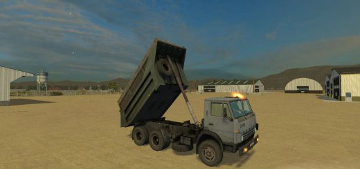 Русская техника для Мод грузовик КамАЗ 55111 v1.0 для Farming Simulator 2015