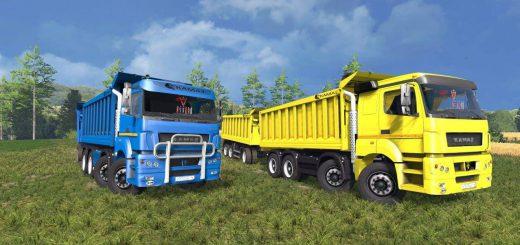 Русская техника для Мод грузовик КамАЗ 40С BESTLOG v2 для Farming Simulator 2015