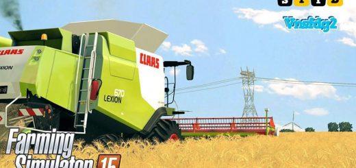 Комбайны для Мод-пак комбайнов Class Lexion 670, 670TT v 1.1 для Farming Simulator 2015