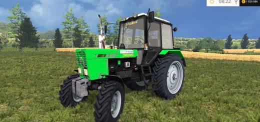 Русская техника для Мод трактор МТЗ 82.1 Беларус FL v2 для Farming Simulator 2015