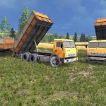 Мод-пак грузовик КамАЗ 55102 и прицепы V1.3 для Farming Simulator 2015
