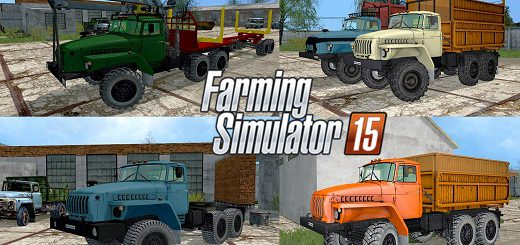 Русская техника для Мод-пак грузовиков Урал V2.0 для Farming Simulator 2015