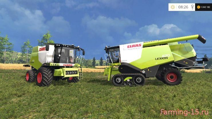 Комбайны для Мод-пак комбайнов Claas Lexion 670 & 670TT Break Engine для Farming Simulator 2015