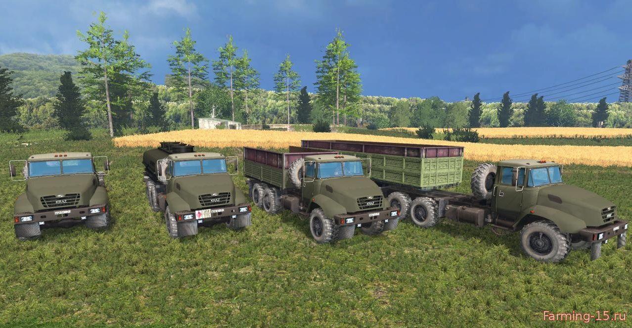 Русская техника для Мод-пак КрАз V18 и модули для Farming Simulator 2015