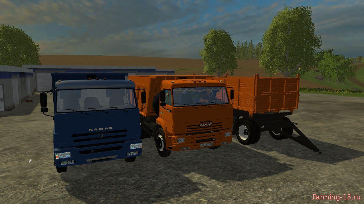 Русская техника для Мод-пак грузовиков КамАЗ  65115 и 6520 для Farming Simulator 2015
