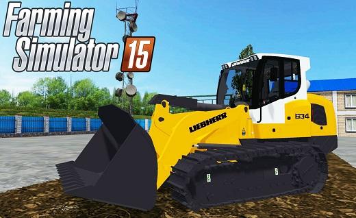 Погрузчики для Мод гусеничный погрузчик Liebherr 634 v1.0 для Farming Simulator 2015