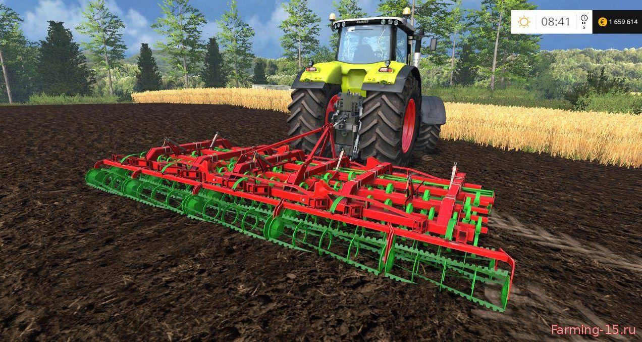 С/Х инвентарь для Мод культиватор Unia Kombi 5.6 v1.0 для Farming Simulator 2015