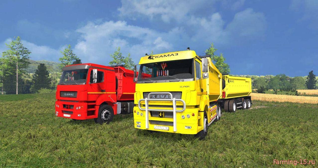 Русская техника для Мод грузовик КамАЗ 5460 BESTLOG v2 для Farming Simulator 2015