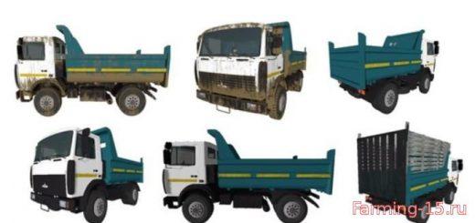 Русская техника для Мод грузовик МАЗ 5551 (2016) V1.0 для Farming Simulator 2015