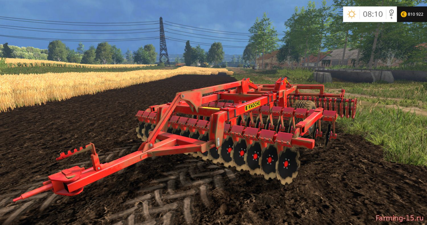 С/Х инвентарь для Мод культиватор Knoche MAXI SEM 4m v 3.0 для Farming Simulator 2015