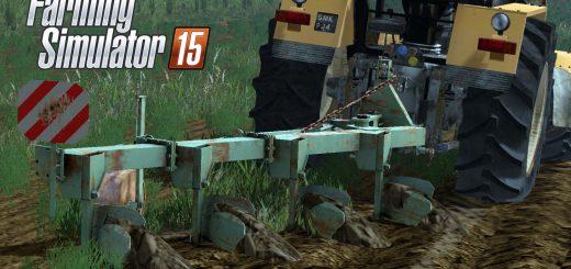 С/Х инвентарь для Мод плуг Агрозет 4 - Agrozet 4 v2 для Farming Simulator 2015