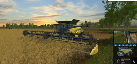 Комбайны для Мод комбайн New Holland CR 10.90 Monitored для Farming Simulator 2015