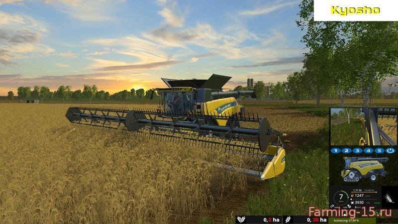 Комбайны для Мод комбайн New Holland CR 10.90 Monitored для Farming Simulator 2015