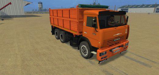 Русская техника для Мод грузовик КамАЗ 45143 для Farming Simulator 2015