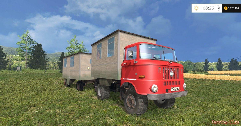 Грузовики для Мод дом на колесах IFA W50 Pausenwagen для Farming Simulator 2015