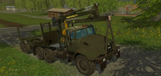 Русская техника для Мод грузовик-лесовоз КрАЗ V18 Лес для Farming Simulator 2015