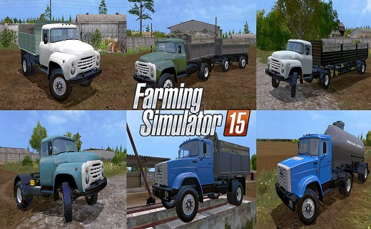 Русская техника для Мод-пак грузовиков Зил для Farming Simulator 2015