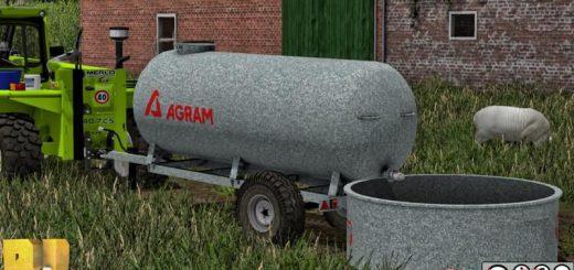 Цистерны для Мод цистерна Agram Water Trailer v 1.0 для Farming Simulator 2015