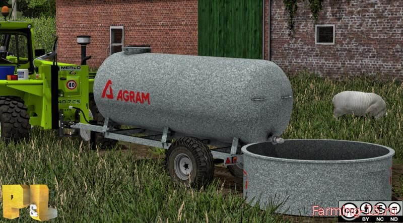 Цистерны для Мод цистерна Agram Water Trailer v 1.0 для Farming Simulator 2015