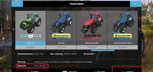 Другие моды для Мод аренда техники-Rental Mod V 2.3 для Farming Simulator 2015