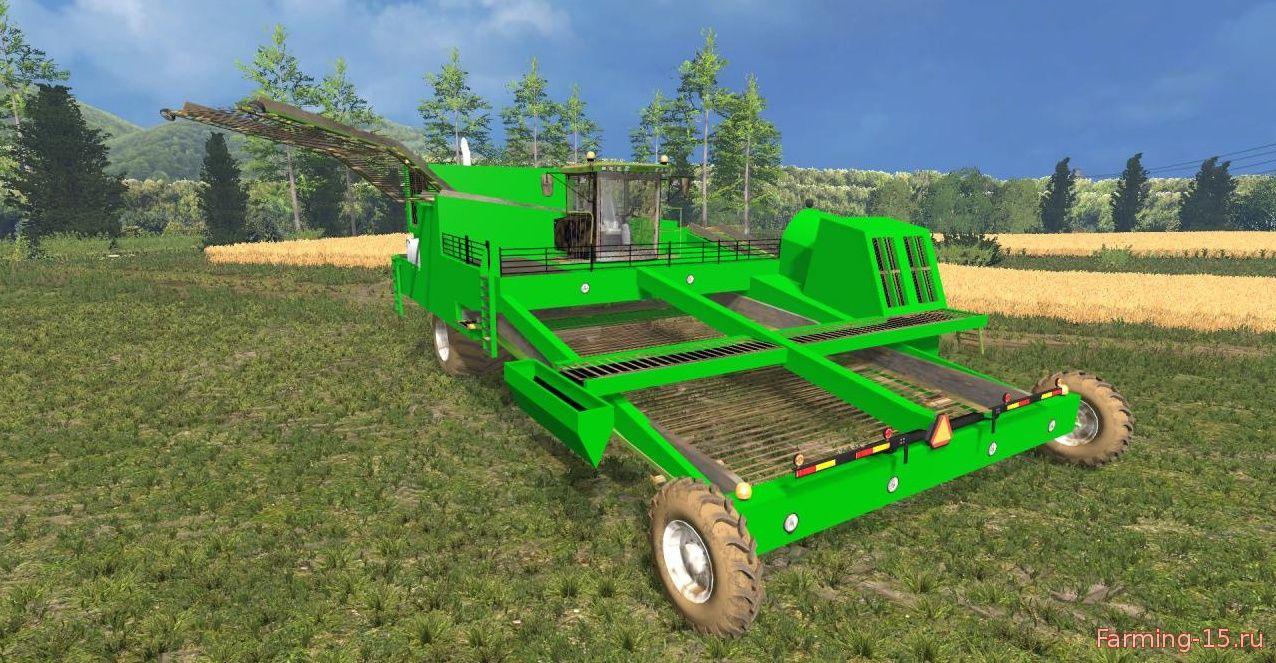 Комбайны для Мод картофелеуборочный комбайн Lenco Airhead v1.1 для Farming Simulator 2015