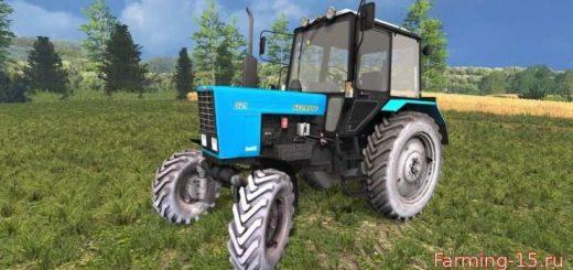 Русская техника для Мод трактор МТЗ 82.1 Беларус v2.1 для Farming Simulator 2015