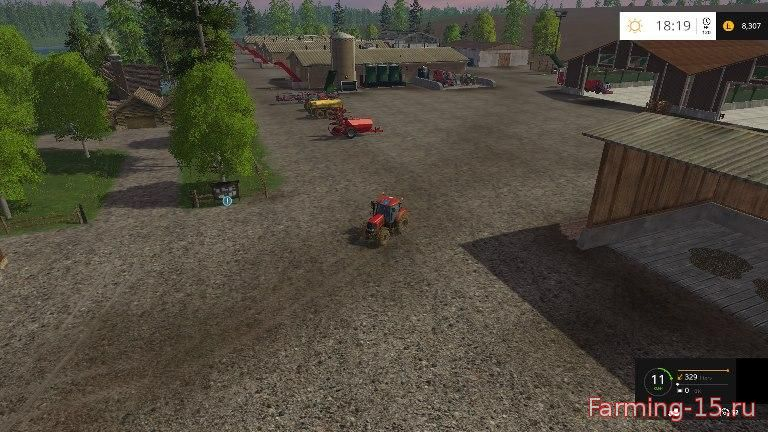 Карты для Карта «Lakeside farm hss by Stevie map» v1.1 для Farming Simulator 2015