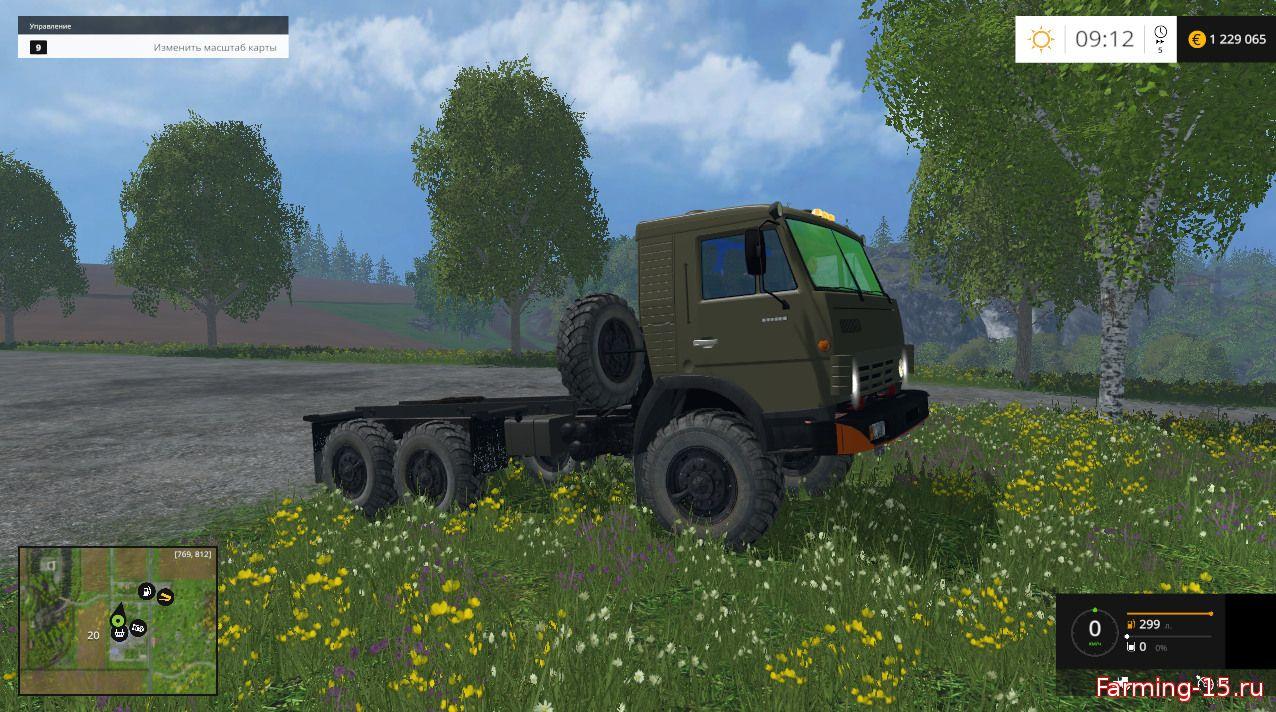 Русская техника для Мод КамАЗ 43114 и продуктовый модуль для Farming Simulator 2015