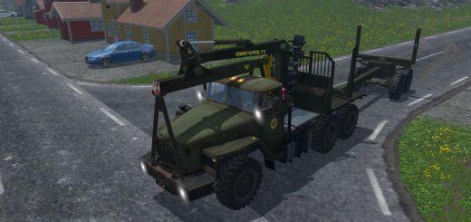 Русская техника для Мод грузовик-лесовоз Урал Лесник  V1.0 для Farming Simulator 2015