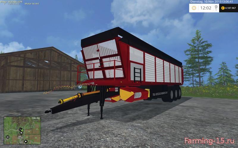 Прицепы для Мод прицеп-подборщик Silospace для Farming Simulator 2015