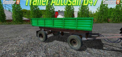 Прицепы для Мод прицеп Autosan D47 для Farming Simulator 2015