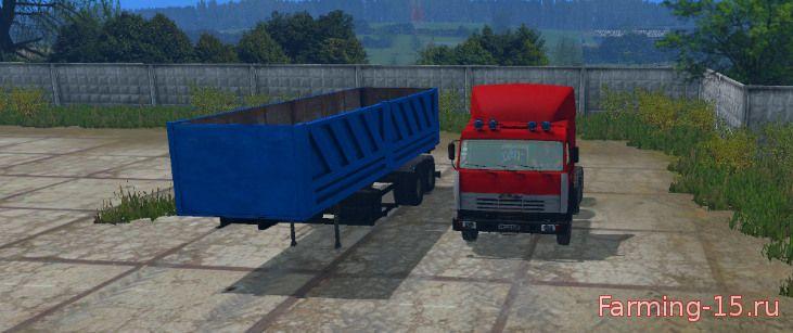 Русская техника для Мод КамАЗ 54115 с прицепом ОдАЗ 9370 для Farming Simulator 2015.