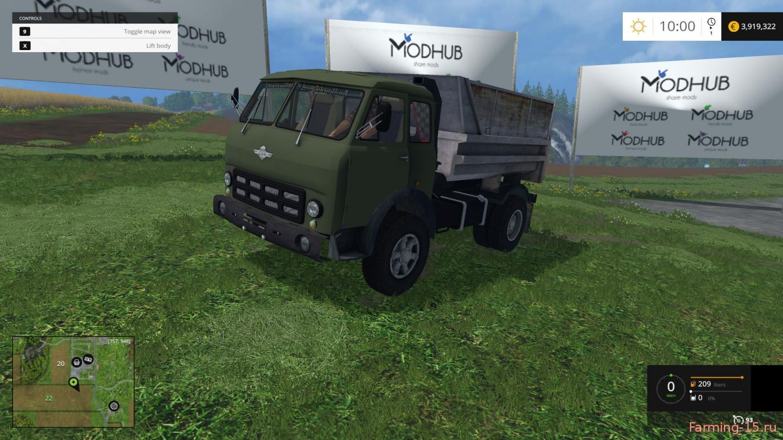Русская техника для Мод грузовик МАЗ 500 для Farming Simulator 2015
