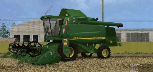 Комбайны для Мод Комбайн John Deere 9640WTS v1.0 для Farming Simulator 2015