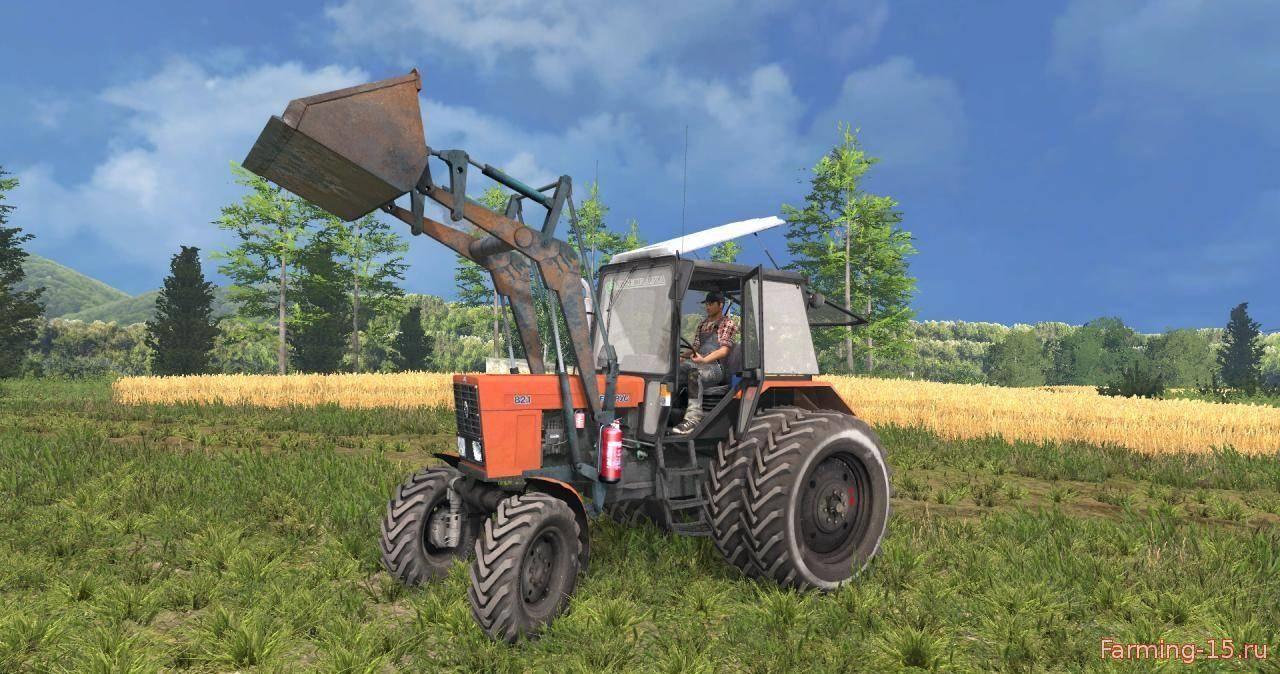 Русская техника для Мод трактор МТЗ 82.1 ПКУ By Sevill для Farming Simulator 2015