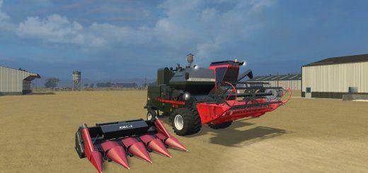 Русская техника для Мод комбайн Нива СК-5М-1 V1.1 и две жатки для Farming Simulator 2015