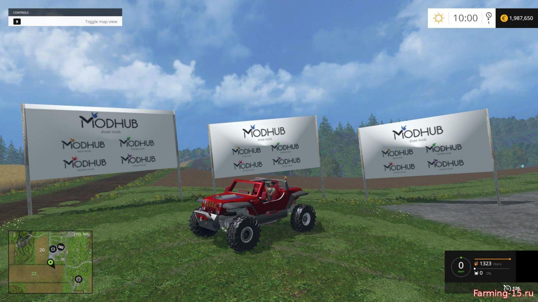 Машины для Мод Джип Ураган для Farming Simulator 2015