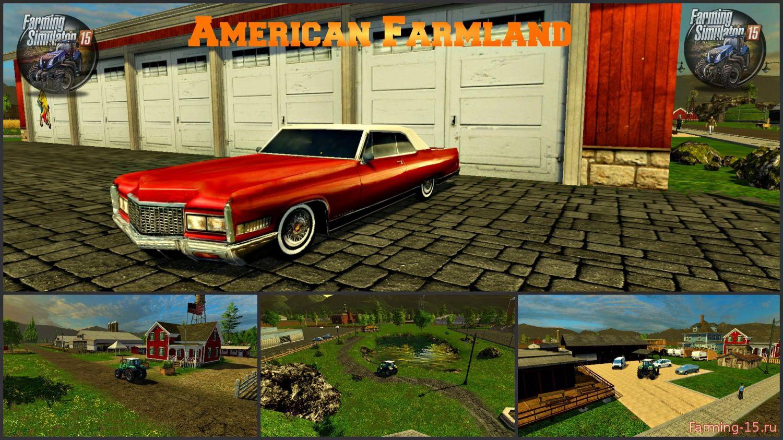 Карты для Карта Американская ферма для Farming Simulator 2015