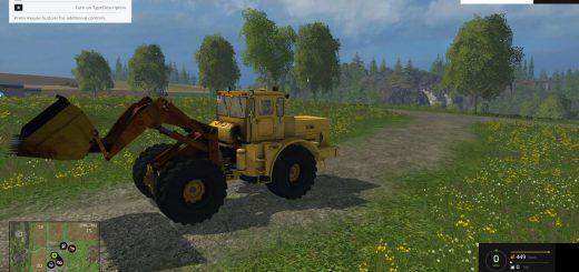 Русская техника для Мод погрузчик «Кировец К-701» и ПКУ v1.0 для Farming Simulator 2015