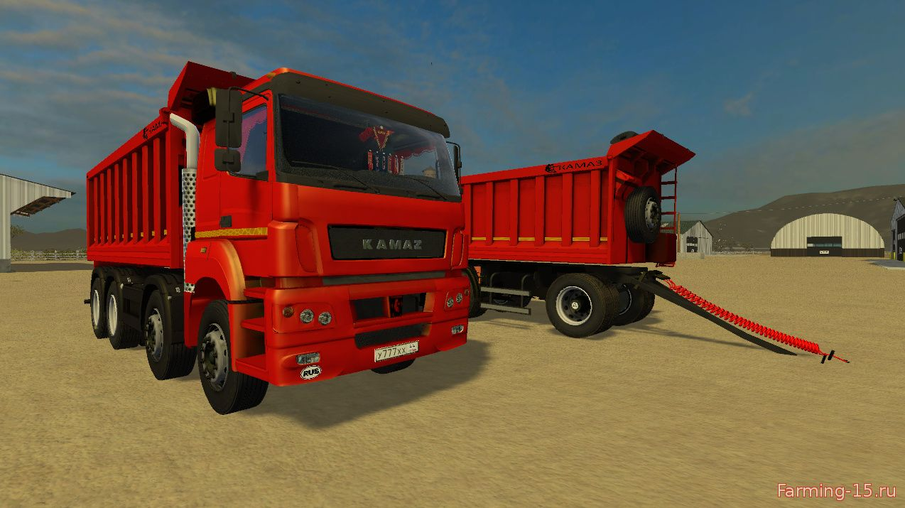 Русская техника для Мод грузовик КамАЗ 40C для Farming Simulator 2015