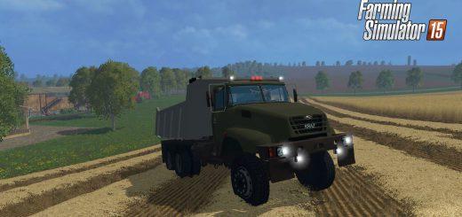 Русская техника для Мод грузовик КрАЗ v18 engine v2.0 для Farming Simulator 2015
