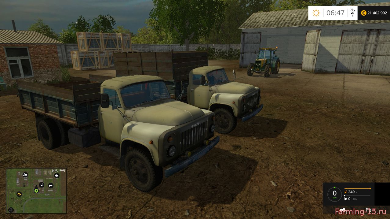 Русская техника для Мод грузовик ГАЗ 53 v3.0 для Farming Simulator 2015