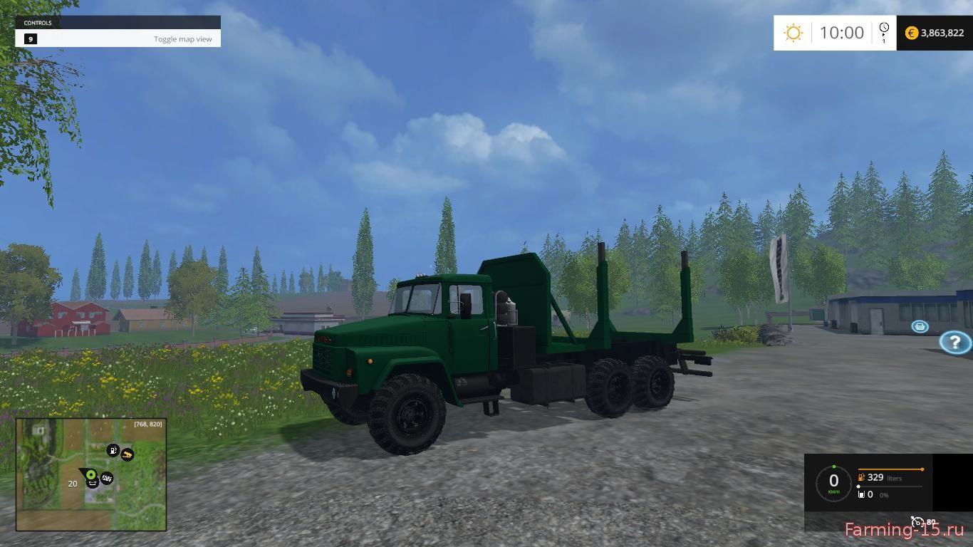Русская техника для Мод грузовик-лесовоз КРАЗ-260 для Farming Simulator 2015