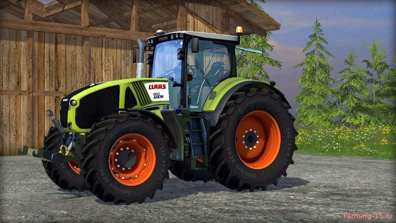 Тракторы для Мод трактор Claas Axion 950 v4.0 для Farming Simulator 2015