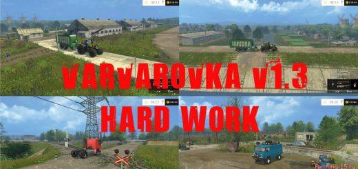 Русские карты для Русская карта Варваровка v1.3 Hard Work для Farming Simulator 2015