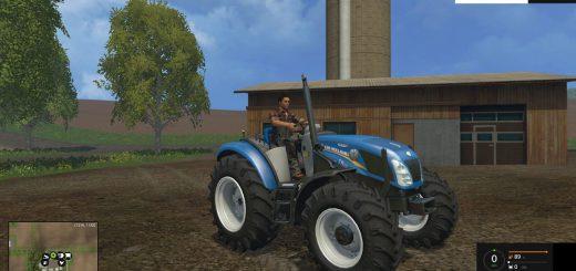 Тракторы для Мод трактор NewHolland T4 No Roof для Farming Simulator 2015